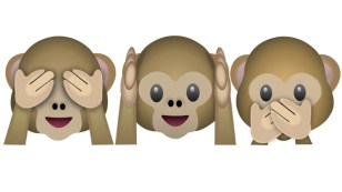 unfollow, emoji monkeys, social media icons
