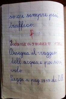 pensierino di seconda elementare di Susanna Albini - La mia strada, via Porro - Fidenza