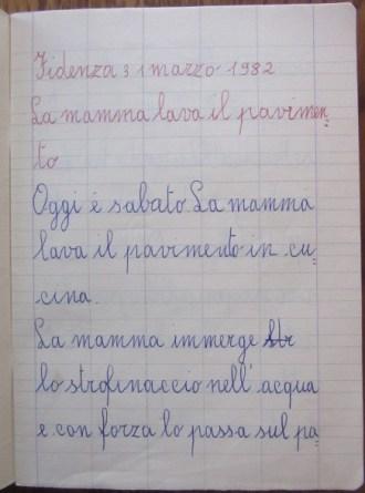 pensierino di seconda elementare di Susanna Albini - La mamma lava il pavimento