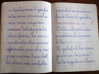 pensierino di seconda elementare di Susanna Albini - In cortile