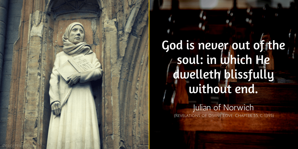 Image result for julian of norwich stained glass and quote