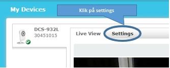 Setttings klik