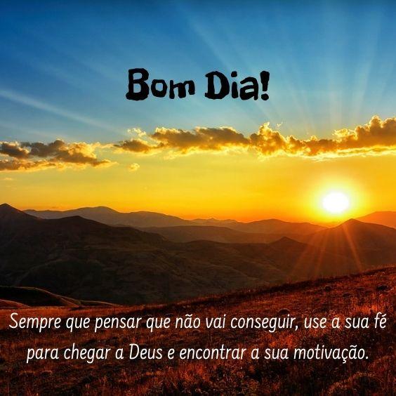 Motivação de Bom dia com Deus