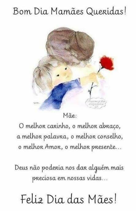 Feliz dia das mães com carinho