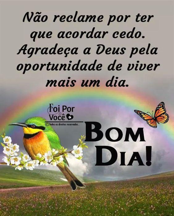 Bom dia agradeça a Deus