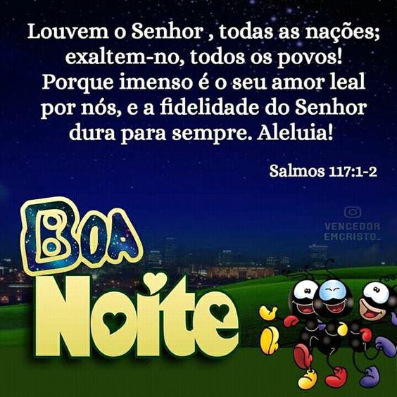 Boa noite com Salmos 117:1-2