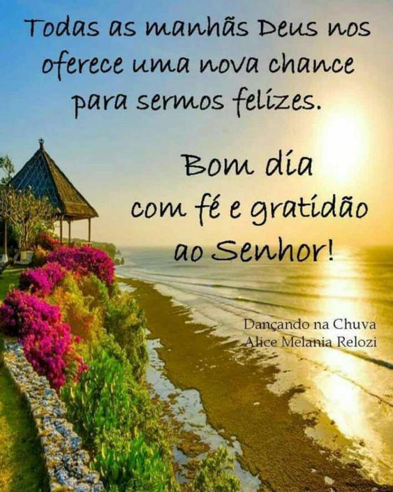 Bom dia com fé e gratidão