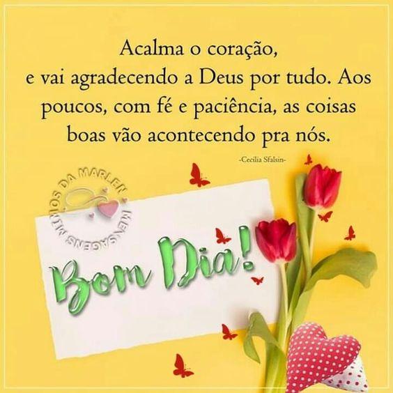 Bom dia agradecendo a Deus