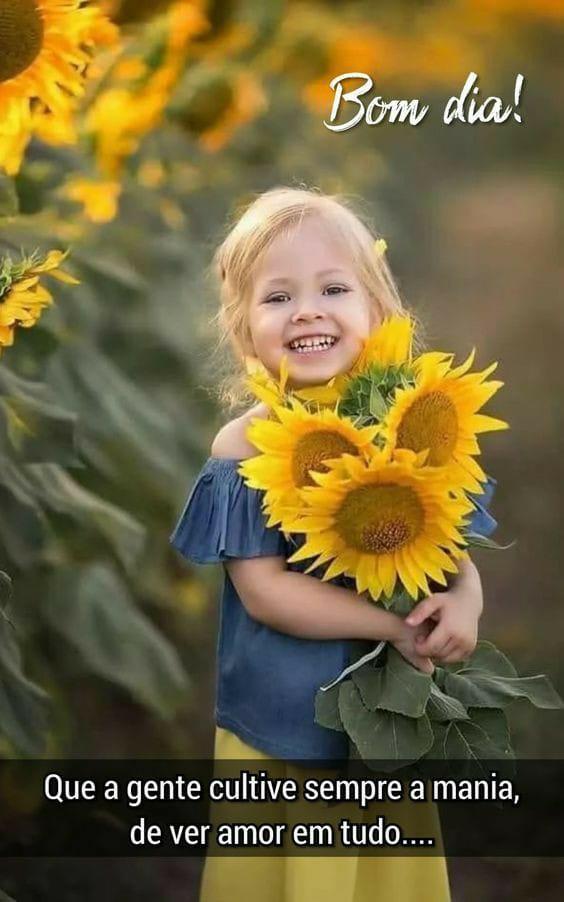Bom dia de sol cheio de amor