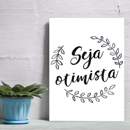 a alegria de pensar com otimismo