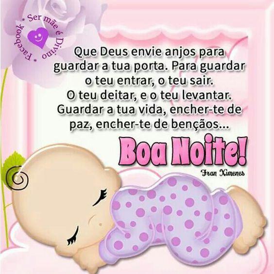 Boa noite Deus envie anjos