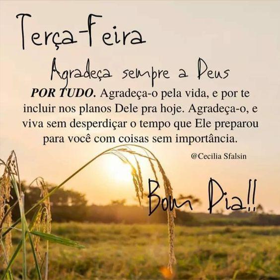Agradeça sempre a Deus