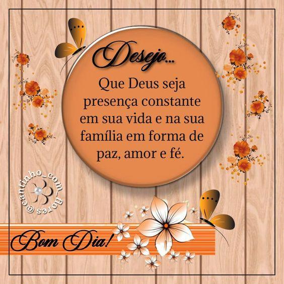 Desejo de bom dia com Deus