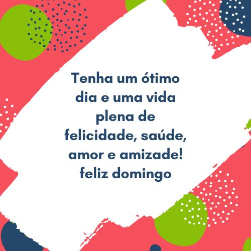 Feliz domingo amor e amizade