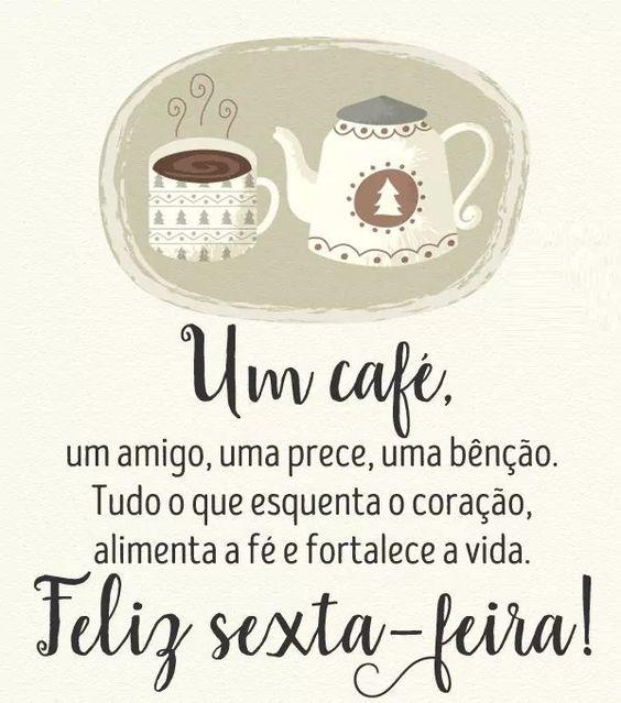 Feliz sexta-feira com café