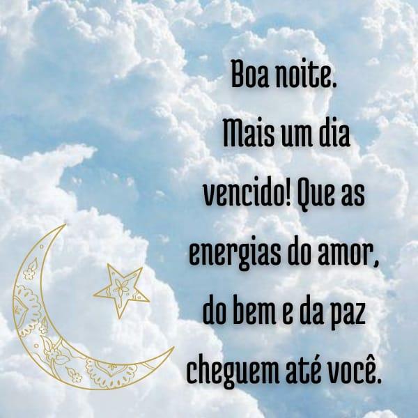 Frase de boa noite com a paz divina