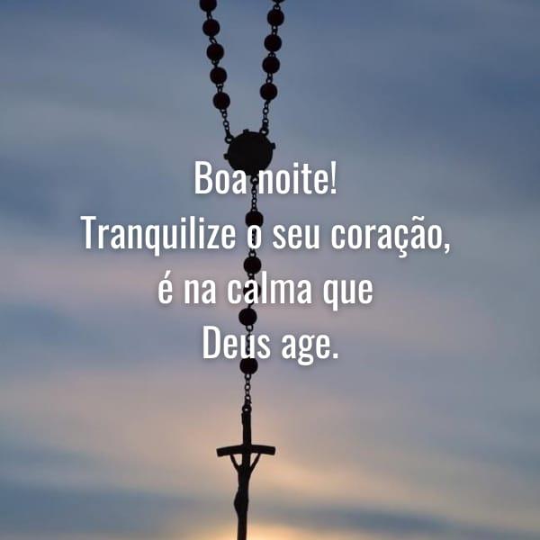 Boa noite tranquila e no agir de Deus