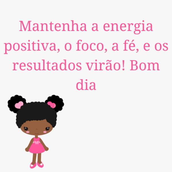 mantenha a energia positiva