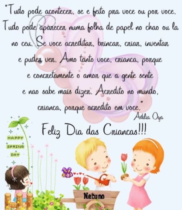 Mensagem para crianças