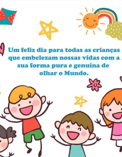 Feliz dia para todas as crianças