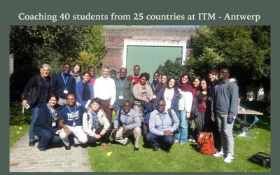 Coaching 40 students from 25 countries at ITM – Antwerp