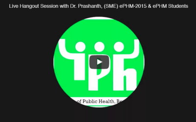Live interaction between Dr. Prashanth and ePHM 2015 course students