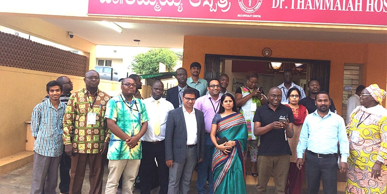 Delegates from African countries visit Tumakuru TB centre