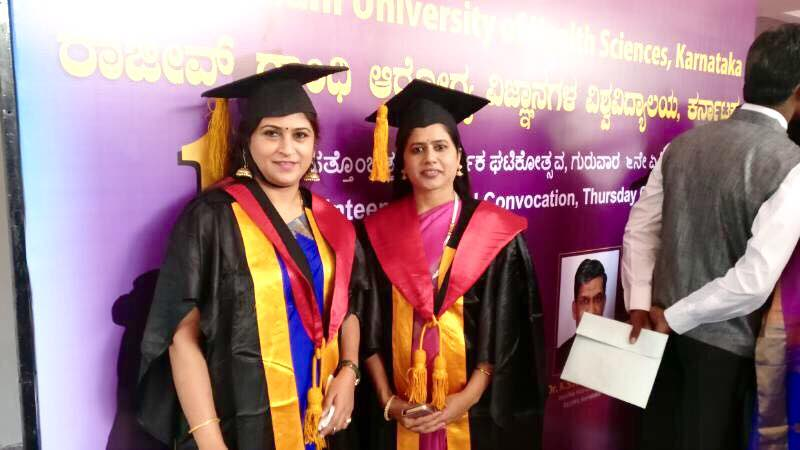 Dr Vijayashree Yellapa Faculty at IPH and Senate member of RGUHS,  participated in the convocation ceremony of RGUHS