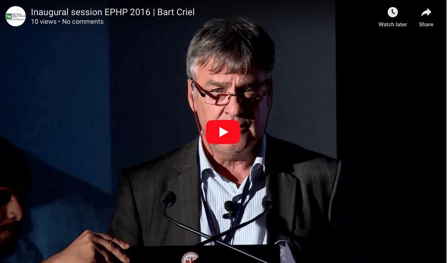 EPHP 2016   Bart Criel