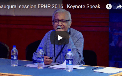 Inaugural session EPHP 2016 | Keynote Speaker | Ravi Narayan