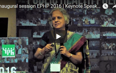 Inaugural session EPHP 2016 | Keynote Speaker | Sundari Ravindran