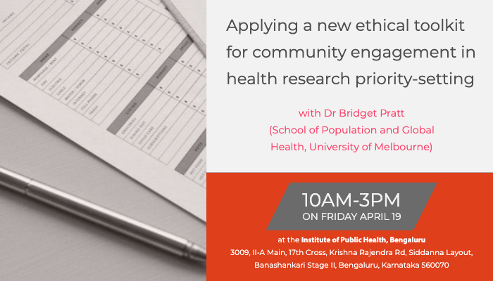 Applying a new ethical toolkit for community engagement in health research priority-setting