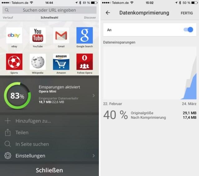 Datenvolumen komprimieren Browser