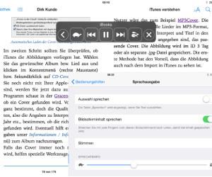 iOS 8 Vorlesefunktion