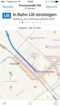 iOS 9 Transit ÖPNV