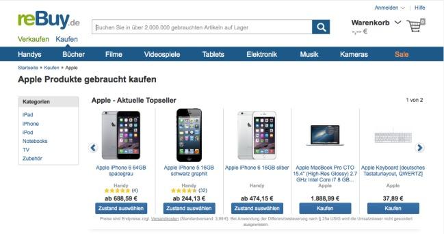 gebrauchte apple produkte kaufen und verkaufen iphone fan. Black Bedroom Furniture Sets. Home Design Ideas