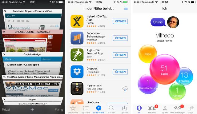 safari, apps, game center
