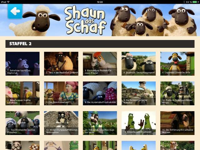 Kinderfernsehen mit Shaun