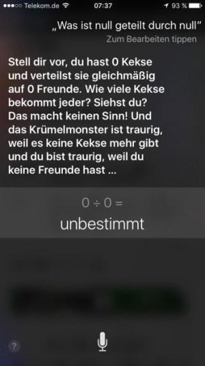 Siri Nul Kekse Krümelmonster