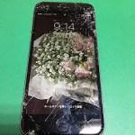 【修理実績No.272】iPhone6のフロントパネルガラス割れ