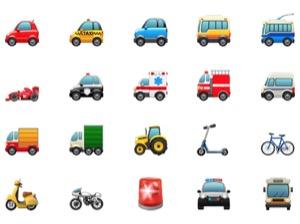 iPhone、絵文字の意味(名前)一覧【旅行と場所】