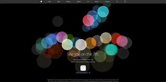 iPhone7イベントページ