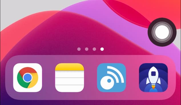 仮装ホームボタンのサンプル iOS 13/iPadOS 13