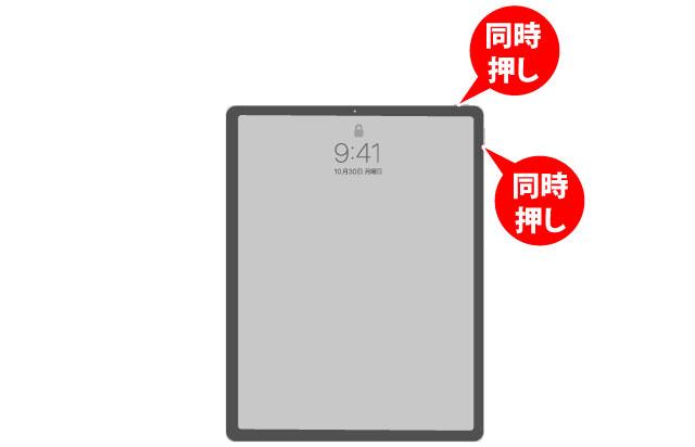 iPad proの電源の切り方