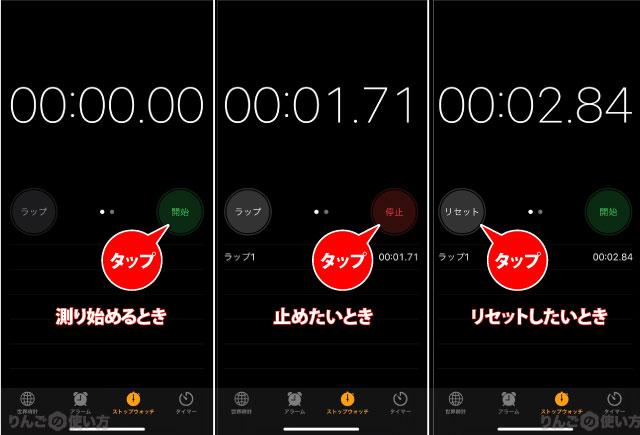 ストップウォッチの使い方 iphone ipad