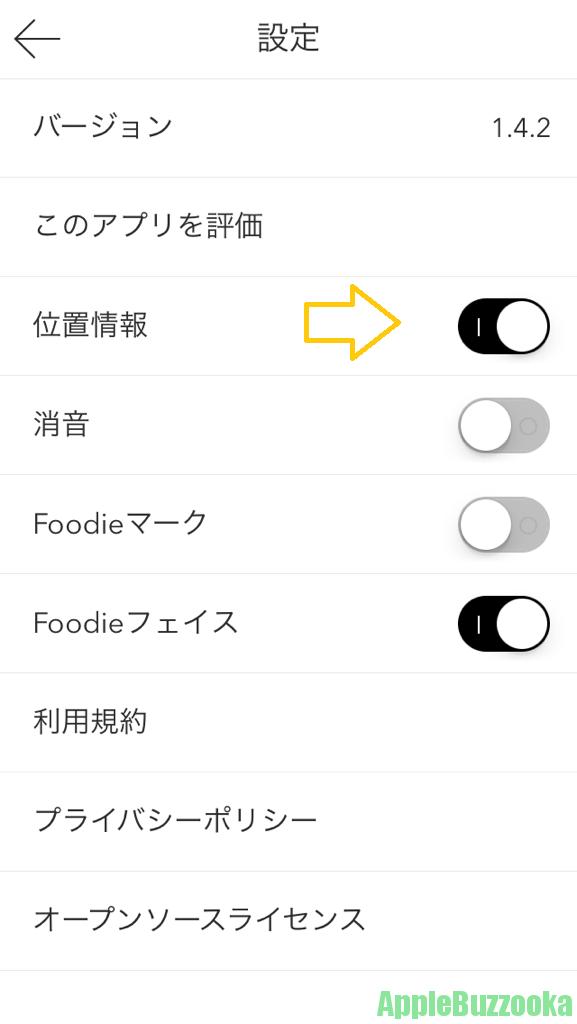 foodie 使い方