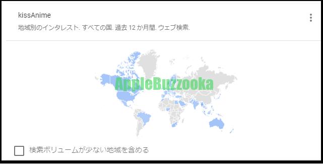 キスアニメGoogle Trends
