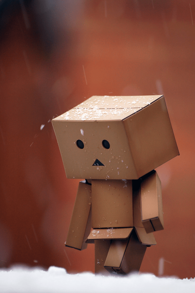 Danbo The Box Man Iphone 4 Backgrounds Wallpapers Fruits