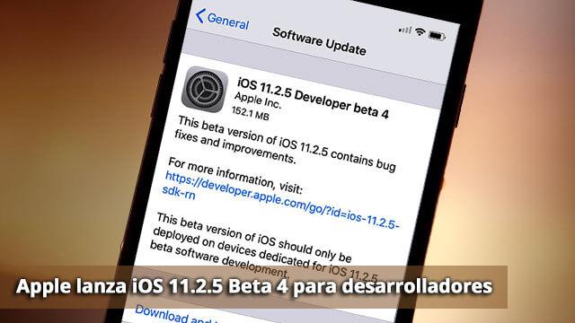 iOS 11.2.5 ©Beta 4