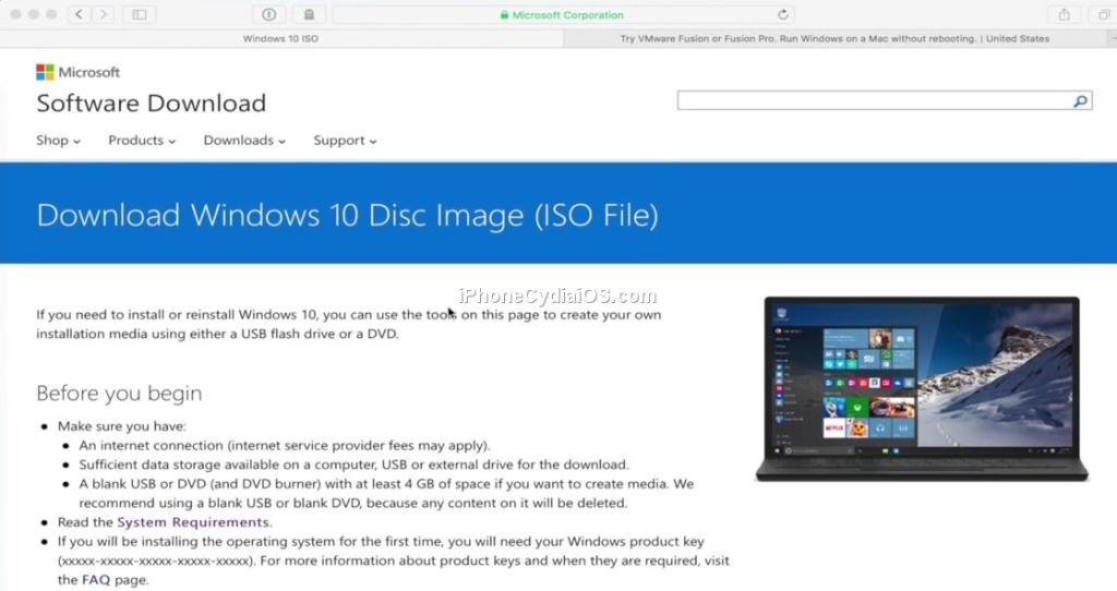 Download Windows 10 Disc Image ISO File